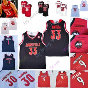 Louisville Basketball Jersey Ncaa College 10 Samuell Williamson 22 Aidan Igiehon 13 David Johnson 5 Malik Williams 33 NWORA 30 Ryan McMahon