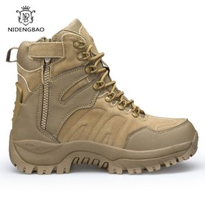 Men's Military Boot Combat Mens Ankle Boots Tactical Big Size 45 46 Army Boot Male Shoes Safety Motocycle Boots Quality Shoes 201019