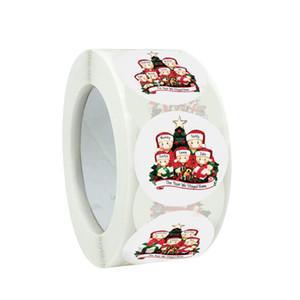 Карантин выживший рождественские наклейки круга бумаги уплотнительные этикетки наклейки для пекарни упаковочные украшения подарки канцтовары GWC2575