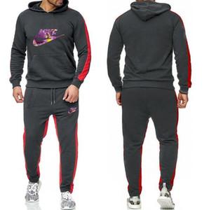NIKE Yüksek kaliteli Erkek Tracksuits Spor Erkek Koşu Suit Kapüşonlular Kazak Casual Spor Giyim Out ayarlar