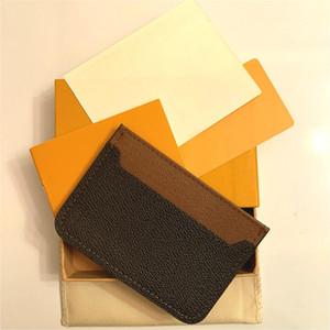 Moda para hombre Moda Diseñadores clásicos Casual Tarjeta de crédito Titulares de identificación Hiqh Calidad Cuero real Ultra Slim Mini Wallet Packet Bag for MA