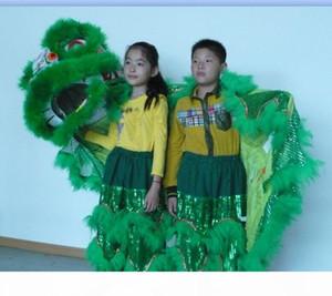 Игрушки Искусство ребенок танец льва выполнять талисман костюм театр на открытом воздухе рождественские дни Parade шерсть Южный театр музыка кино китайский костюм