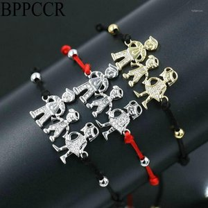Charm Bracelets BPPCCR Cute Family Dad & Mum Boys Girls Lucky For Men Women Lovers Children Red Rope String Bracelet Jewelry1