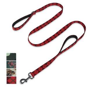 Hyhug Animaux Design et 18 pouces Double poignées en laisse, pour les gros chiens géants moyens Usage quotidien et formation professionnelle LJ201109