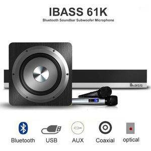 Ibass 61k Bluetooth Soundbar с сабвуферным микрофоном объемного звучания Главная Театр 6 блок Интегрированный Bluetooth Speaker1