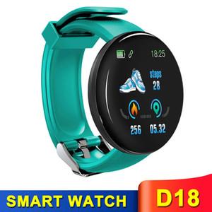 Presión impermeable reloj inteligente D18 rastreador de ejercicios SmartWatch sangre pulsera popular del ritmo cardíaco Muñequera con Box
