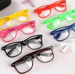 Hot Sunglasses Unisex sunglasses Rivet Sunglasses Retro Color Unisex Punk Geek Style Clear Lens Glasses #M4521