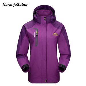 NaranjaSabor Spring Women's Jackets Waterproof Coats Women Windbreaker Female Casual Coat Women Clothing Sportwear 4XL 200930