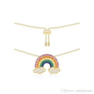 New Fashion Women Earrings Yellow Gold Plated High Quality CZ Rianbow Earrings for Girls Women for Party Wedding Nice Gift