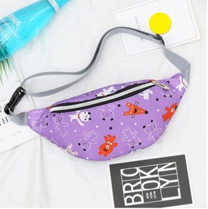 Fashion kids waistpacks outdoor sport waist bag cartoon print single shoulder bag mobile phone coin purse corssbody packs wholesale