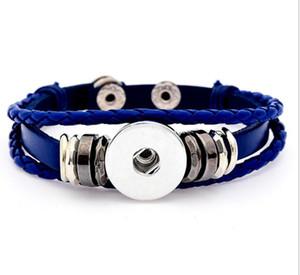 Leather Bracelets Snap Button Bracelets 23CM Couple Ginger Snap Bracelet 4 Styles Fit 18mm Noosa Chunks Button Valentine'S Gift ps2475