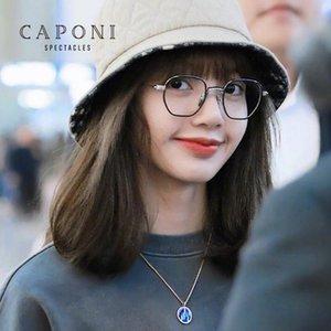 Caponi Lisa Gläser Korea Rahmen Anti Blue Light UV-Schutz Klar Blue Ray Cut Computer Frauen Gläser JF32022