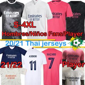 Real Madrid Jugador Versión Fútbol Jerseys 21 22 Fans Peligro Sergio Ramos Benzema Vinicius 2020 2021 Camiseta Hombres Kit Kit de niños Camisa de fútbol UNI