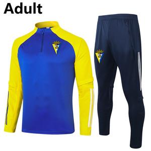 2020 2021 كاديز FC الرجال لكرة القدم رياضية مجموعات الكبار لكرة القدم الركض سترة السراويل الرياضية Survetement كرة القدم الشتاء تدريب دعوى مجموعات الجري