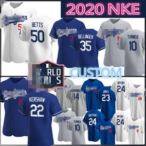 Özel Mookie Betts Cody Bellinger Clayton Kershaw Beyzbol Jersey Dodgers Justin Turner Los Enrique Bryant Hernandez Angeles Piazza James 8