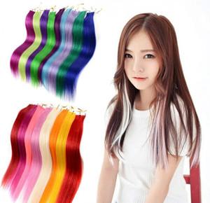 Femmes postiche Extension Fashion Chic Doux droite Clip-in sur longue perruque Piece Pure Color résistant à la chaleur Styling Accessoires