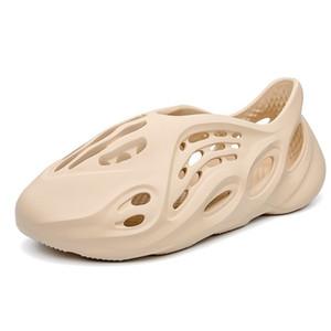 Sexemara 카니 예 웨스트 (Kanye West) 남성 패션 여성 폼 주자 여름 남성 슬라이드, 캐주얼 슬리퍼 비치 신발 에바 사출 신발 슬라이드 MX200617