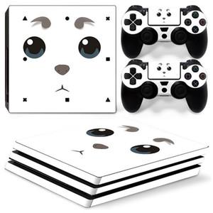 Teste padrão dos desenhos animados Adesivo Decalque para PS4 Pro Console + 2 Controlador Adesivo de Pele para Sony Playstation 4 Pro Acessórios de Jogo W1219