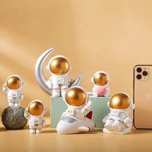 Séjour Décoration Accessoires Nordic Décoration d'intérieur Figurines Bureau Décoration Astronaut Ornement arrière plat résine miniature