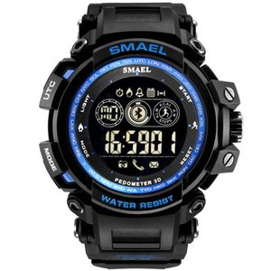 Mayforest Men Цифровые наручные часы Светодиодный дисплей Часы для мужских цифровых часов Мужчины спортивные часы Большой набор 8018 Wtaeroft Men