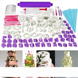 94pcs Fondant Cake Cutter Cookie Bakeware Icing Decoration Kit with Flower Modelling Mold Mould Fondant Tools Dough Roller Set