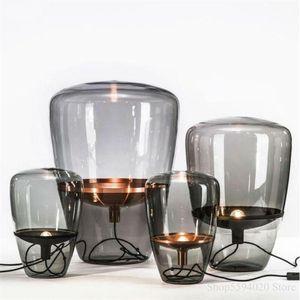 Luster Led moderna da tavolo in vetro Lampada Post Modern Desk Lamp for Living Room Bed Lampada Lamparas de pie Led Deco da letto Illuminazione C0930