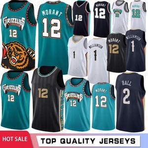 NCAA Ja 12 Morant Zion 1 Williamson College Men Basketball Jerseys Lonzo 2 Ball Hot Sale Jerseys S-XXL 2021 New Jerseys