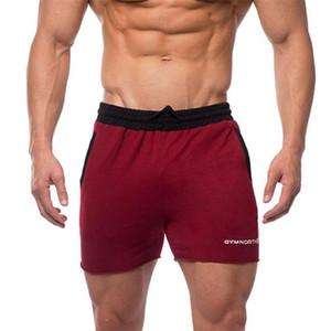 Gykz hombres casual moda pantalones cortos de algodón masculino verano nuevo jogger recortes pantalones de chándal gimnasios gimnasio aptitud corta corta y0108