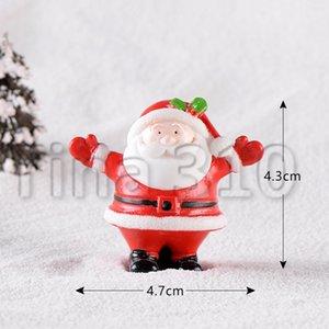 Украшение рождества старый человек снеговика микро пейзаж заснеженной орнамент Рождество носки небольшой подарок колокол смолы орнамент GGB2290