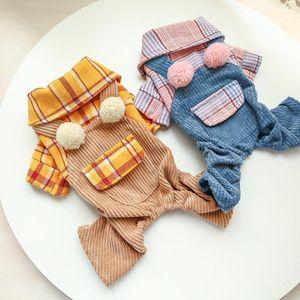 Ropa de cálido de cuatro patas para mascotas Ropa para perros pequeños Peluche Pijamas Pajamas PET PET casero ropa vestidos otoño invierno