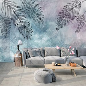 Custom 3D Wallpaper Plant Leaves Banana Leaf Mural Modern Bedroom Living Room Sofa Decoration Painting Wall Papers Home Decor