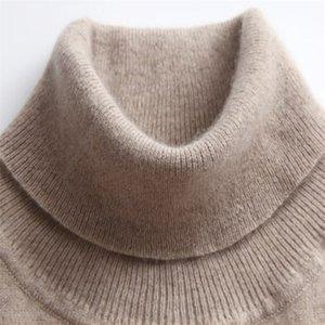 Gaberly Soft Cashmere Sleeers elásticos e pullovers para mulheres outono de inverno Turtleneck feminino lã malha marca camisola 201221
