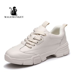Dames à lacets Sneakers Casual 2020 Mode Respirant Bas confortables Chaussures Femme plates MALEMONKEY 932475