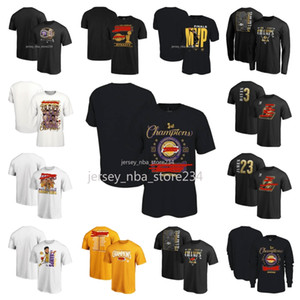 Los AngelesLakersUomini Donne giovani neri 2020 finali di Champions Spogliatoio Pallacanestro T-shirt