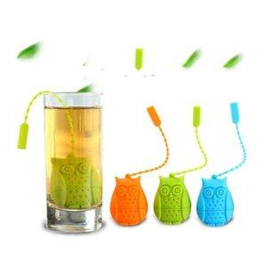 silicone owl tea strainer cute tea bags food grade creative loose-leaf tea infuser filter diffuser fun accessories lxl870q