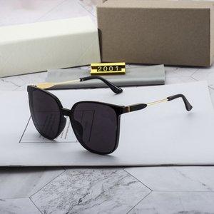 Nouveau Top Polarized Quality 2020 Lunettes de soleil Big Hommes et Luxe pour Cadre Square Femmes Sunglasses Sunglasses Fashion 2001 Glas Uuqk