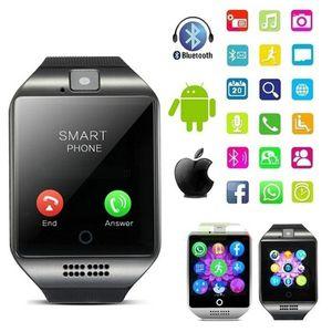 2020 New Q18S intelligente Montre Homme TF carte SIM support Bluetooth Horloge SmartWatch Musique Smart Camera Montres pour IOS Android Phone