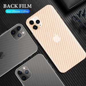 Carbon Fiber Anti-fingerprint Back Film For iPhone 11 Pro Max XS Max XS XR X 8 7 6 6S Plus Back Screen Protector For iPhone SE 2020 DHL Free