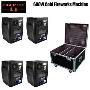 Road Case 4in1 Pack 600W Stage Fireworks Titanium Powder Cold Spark Fountain DMX Sparkular Machine Party Club DJ Effect Machine dj equipment