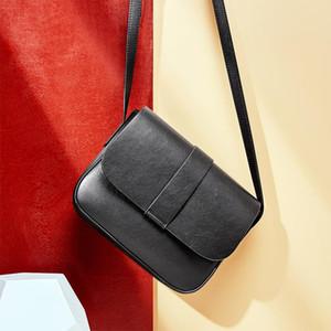 Ladies small bag ladies retro texture small square bag European classic fashion elegant shoulder black diagonal female bag gift 1315