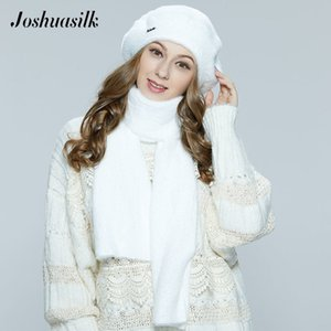 Joshuasilk Autumn Winter Womens Beret angora faux fur soft and delicate Decoration warm hat No leg Fashion Model