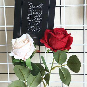 1pc Single Branch Artificial Flower DIY Silk Rose Fake Flower Valentine's day Gift Wedding Holding Decorations