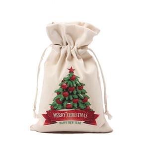 Santa Sack Canvas Bag 2020 Tree Christmas Ornament Handbags Drawstring Decorations Gift Fascicular Orifice Bauble Bags Hot Sale 4 6cq F2