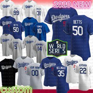 50 Mookie Betts Cody Bellinger Clayton Kershaw baseball Jersey Dodgers Justin Turner Mike Piazza Enrique Hernandez Corey Seager Hyun-Jin Ryu