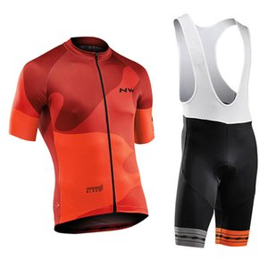 New Team Northwave Verão 2020 Ciclismo Jersey Set NW respirável manga curta MTB Conjuntos de bicicleta Mountain Bike uniforme Y121802