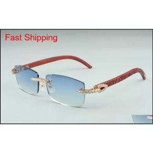 Newest 3524012-12 Big Diamond Sunglasses, Tiger Pattern Wood Glasses, Square Piece Eyeglasses Fashion Men'S And Women'S Boundless 6Za5F