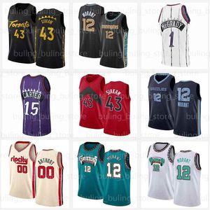 Vince 15 Carter-Trikots JA 12 Morant Carmelo 00 Anthony Toronto Pascal 43 Siakam Memphis Tracy 1 McGrady Kyle 7 Lowry 2021 Basketball