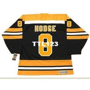 888s # 8 Ken Hodge Boston Bruins 1974 ccm vintage retrò hockey jersey o personalizzato qualsiasi nome o numero maglia retrò