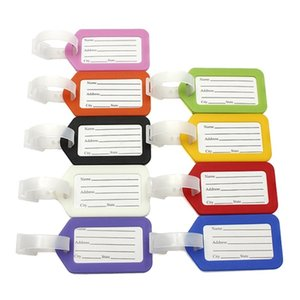 Plastic Holder Labels Strap Name Address ID Suitcase Portable Tag Baggage Travel Luggage label