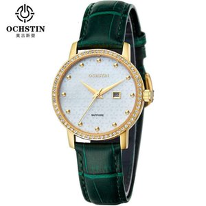 / Augusteen Diamond Pearl Shell Ochstin Face Watch